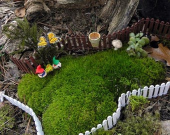 "Save25% Miniature fence-Fairy Garden Fence-Choose 1"" or 2"" same priceMiniature White Picket wooden fence-wedding cake decor"