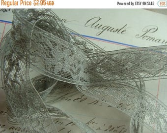 ON SALE 1 Yard Gray Dreamy Exquisite Vintage Lace