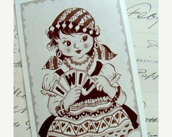ON SALE Vintage Gypsy cards for Altered Art