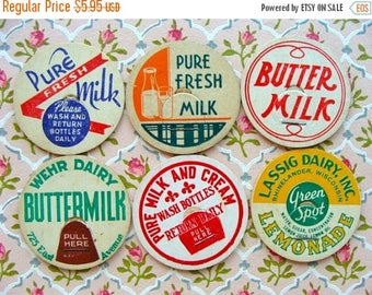 ONSALE Vintage Milk Caps Cream of the Crop Farmhouse N0 25