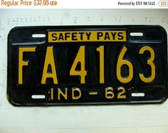 ONSALE Rare Antique Vintage Metal License Plate from the 1960s Safety Pays