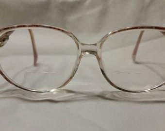 Ladies vintage 80s glasses, prescription,  pink and purple