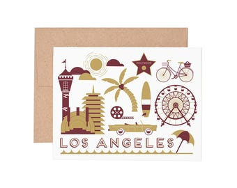 Los Angeles Letterpress Greeting Card - Blank Card | Greeting Cards |