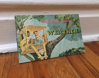 Weather Book Vintage Book 1975 Paperback Children's Library