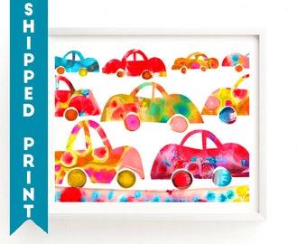 PRINT Cars print, Cars Wall Art, Boys Room, Nursery Boys Art, Cars Art Nursery Art