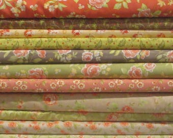 Fig Tree & Co Half Yard Fabric Bundle - Moda - Honeysweet Farmhouse Strawberry Fields