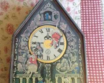 vintage mice before Christmas clock cookie tin,biscuit tin collector,mouse collectible silver crane company,