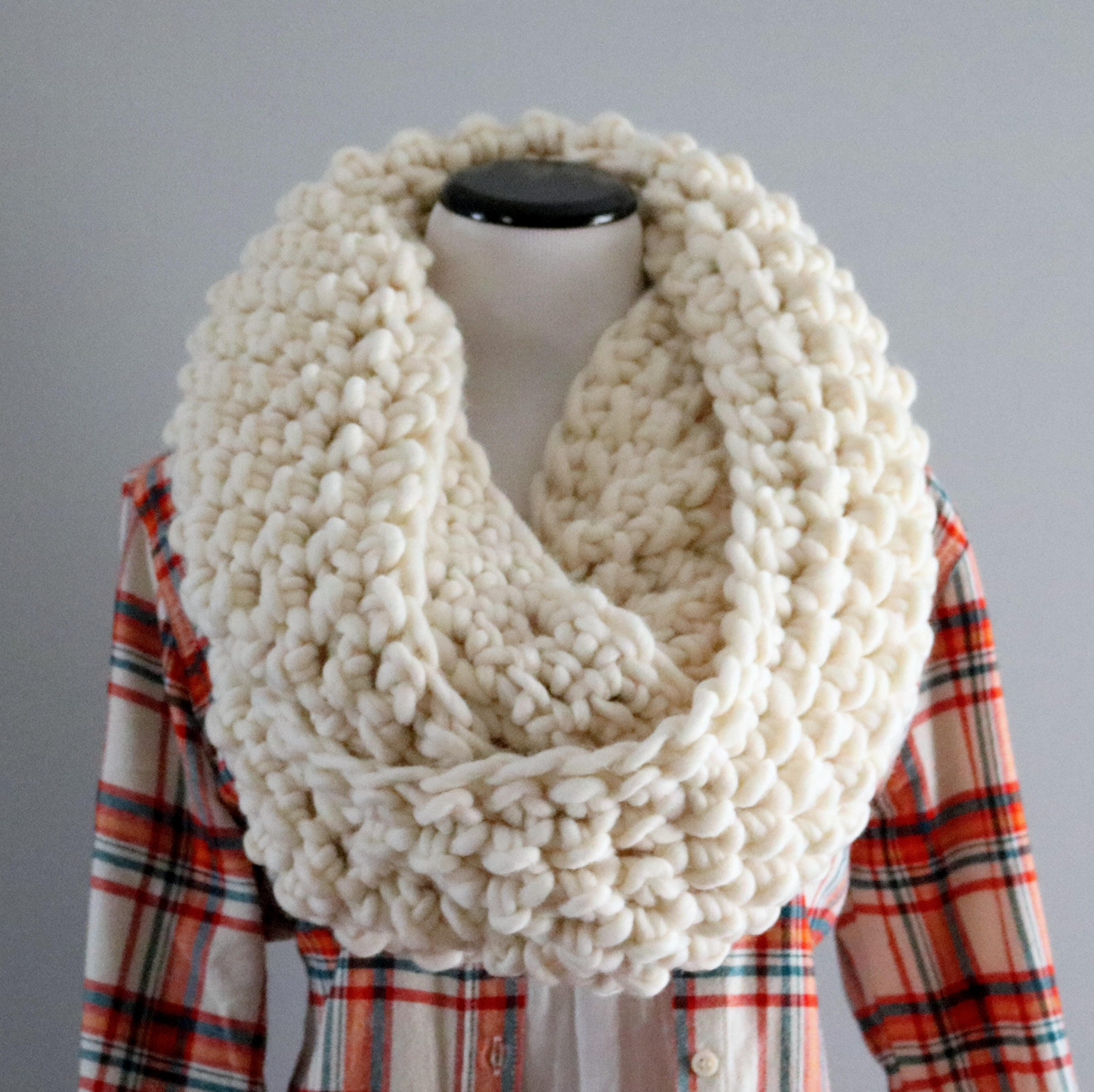 Chunky Wool Scarf | Chunky Infinity Scarf | Crochet Cowl | Extra ...