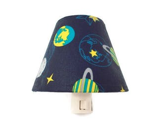 Planets Night Light Kids - Space Night Light- Boys Night Light - Blue Light - Outer Space Decor - Earth Saturn Decor - Boys Room Decor