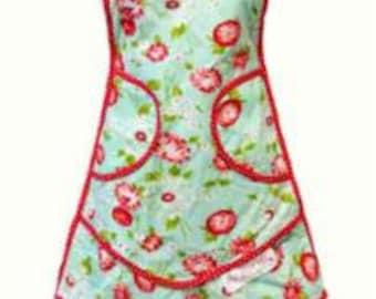 SUMMER SALE - Aqua Apron - The Good Life - Bonnie and Camille for Moda Fabrics