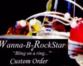 CUSTOM ORDER for Amanda H --  YO Ho Ho Pirate Party Theme -  8 Count Wine Charm Set