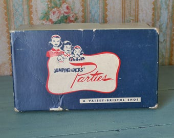 Vintage Jumping-Jacks Parties Vaisey Bristol Child's Shoes Empty Box