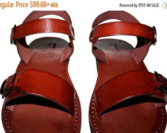 15% OFF Brown Eclipse Leather Sandals For Men & Women - Handmade Sandals, Leather Flats, Leather Flip Flops, Unisex Sandals, Brown Leather S