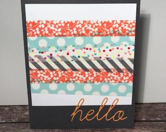 Hello Washi Tape Handmade Card