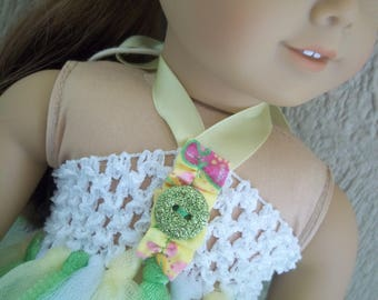 "Spring Green tutu dress for any 18"" doll"