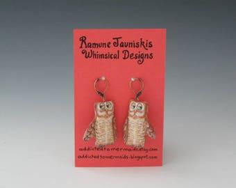 OWLS  EARRINGS. owls, jewelry. earrings owls, Owl earrings