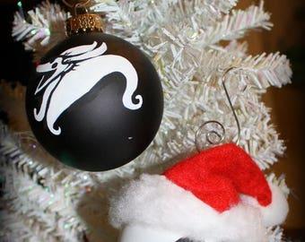 Summer SALE Nightmare before Christmas Inspired Jack Skellington or Zero Christmas Ornament