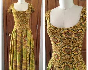 vintage BOHO BALLERINA scoop neck ballet dress Festival Dress