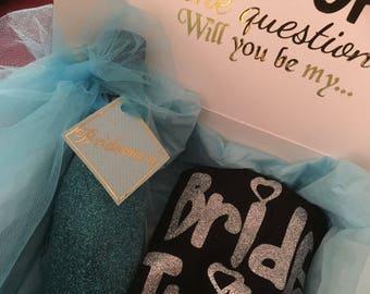 DIY Bridesmaid Proposal Box-Maid of Honor Proposal DIY Gift Box-Bride Tribe-Proposal Gift-Bridesmaid Gift-DIY Gift