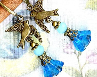 Earrings ❀ one swallow doesn't spring ❀... but two? ...