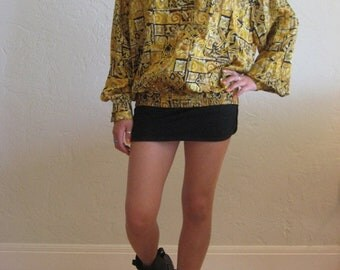 40% OFF Black & Gold Luxe Print Tunic