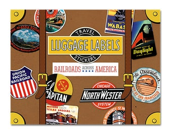 Railroads of America Vintage Luggage Labels