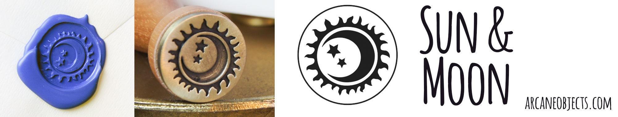 Sun & Moon Wax Seal Stamp