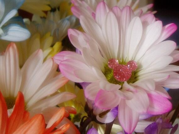 Disney Wedding Corsage Pins-Hidden Mickey Bouquets-Flower Girls-Bridesmaids