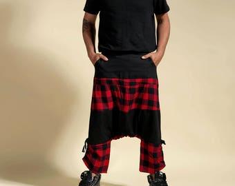 """harem pants Scottish and black man """" Punishment"""" ninja pants"""