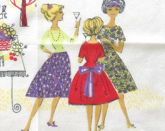Vintage Handkerchief Garden Party German Promotional Advertising Hankie Marion Store Munich