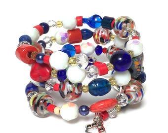 MULTIFIORE Coil Beaded Bracelet by Beading Divas fundraiser