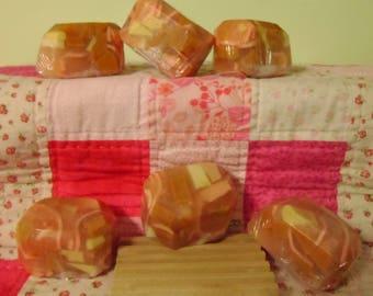 Island Citrine Bubble Rock Shea Butter Soap