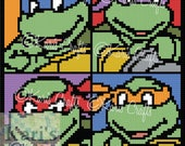 TMNT C2C Afghan PDF Pattern Graph + Written Instructions - Instant Download