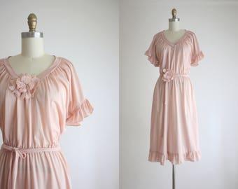 1970s rosé dress