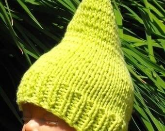 40% OFF SALE Instant Digital File PDF Download Baby Garden Gnome Pixie Hat pdf download knitting pattern