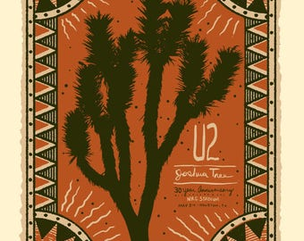 U2 The Joshua Tree 30th Anniversary Tour Commemorative Poster (Limited Quantities)