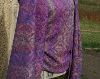 Hand dyed and handwoven wrap