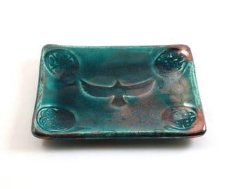 RAVEN CELTIC Freeform / Handmade RAKU Pottery-Ceramic