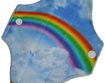 Liner Core- Rainbow Clouds Reusable Cloth Mini Pad- WindPro 7.5 Inches (19 cm)