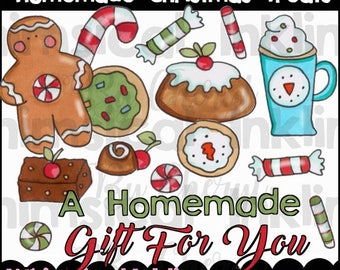 Homemade Christmas Treats Clipart Collection- Immediate Download