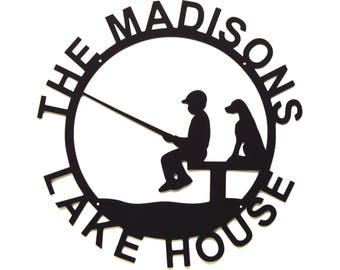 Personalized Lake House Sign Metal Art - Free USA Shipping