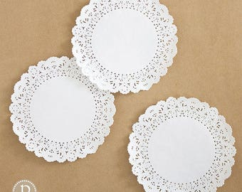 """6"""" Lace White Round Paper Doilies"""