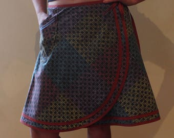 Wrap Skirt (one size fits most small - large) with pocket.