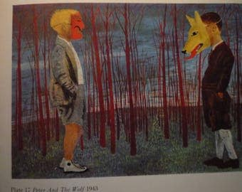Vintage - Ben Shahn, Peter and the Wolf 1943 - Framed Print American realism - for art lovers - for Prokofiev opera American
