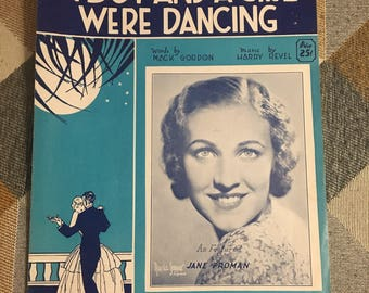 Vintage 1932 A Boy and A Girl Were Dancing Sheet Music