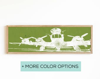 Vintage Airplane Wall Art - Airplane Propeller - Airplane Decor