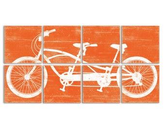 Tandem Bike Art - Large Living Room Art - Tandem Cycle - Bicycle Tandem - Extra Large Artwork - Tandem bike Print - Cycling Wall Art