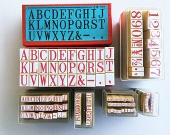 Japanese Alphabet and Number Stamp Sets