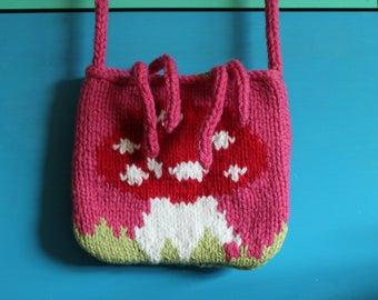 Hand Knitted chunky across body bag