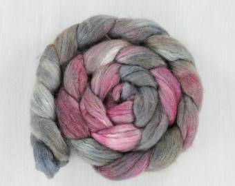 BFL/SILK Handpainted Roving Combed Top :MINA light